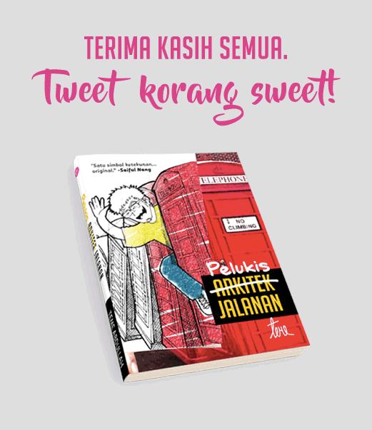 Terima kasih kerana Tweet pasal Pelukis Jalanan!